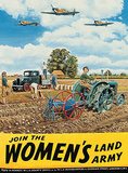 Join the Women's Land Army Tin Sign by Trevor Mitchell