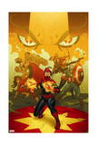 Captain Marvel 13 Cover: Captain Marvel, Spider Woman, Thor, Hulk, Black Widow, Captain America Posters by Joe Quinones
