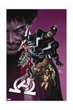 New Avengers 8 Cover: Medusa, Black Bolt, Lockjaw, Gorgon, Triton, Crystal, Karnak, Maximus Prints by Mike Deodato