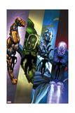 Infinity: Heist 2 Cover: Spymaster, Titanium Man, Whiplash, Blizzard Posters by Al Barrionuevo