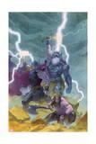 Thor: God of Thunder 9 Cover: Odin, Thor Affiches par Esad Ribic