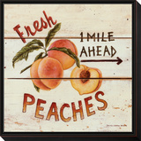 Fresh Peaches Framed Print Mount by David Carter Brown