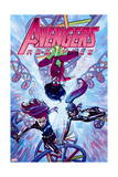 Avengers Assemble 21 Cover: Spider Woman, Black Widow, Spider-Girl Prints by Jorge Molina