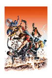 Ultimate Comics Ultimates 24 Cover: Hawkeye, Tigra, Quake, Thor, Captain America, Wonder Man Prints by Mike Deodato
