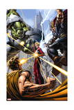 Avengers 9 Cover: Hulk, Thor, Star Brand, Hyperion Prints by Dustin Weaver
