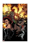 All-New X-Men 5 Cover: Grey, Jean, Cyclops, Black Queen, Marvel Girl, Pryor, Madelyne Prints by Stuart Immonen
