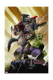Indestructible Hulk 13 Cover: Hulk, Black Knight Prints by Mukesh Singh