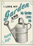 I Love My Garden - Metal Tabela