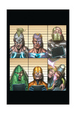 Infinity: Heist 4 Cover: Whiplash, Spymaster, Titanium Man, Whirlwind, Unicorn, Firebrand Prints by Al Barrionuevo