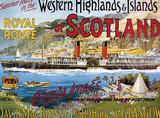 Western Highlands of Scotland Tin Sign