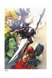 Infinity: the Hunt 1 Cover: She-Hulk, Ant-Man, Shuri, Black Panther, Meggan, Glaive, Corvus Prints by Slava Panarin
