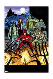 Daredevil 32 Cover: Daredevil, Satana, the Living Mummy, Frankensteins Monster, Werewolf by Night Art by Chris Samnee