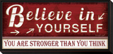 Believe in Yourself Framed Print Mount by Jennifer Pugh