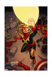 Avengers Assemble 17 Cover: Captain Marvel Posters by Joe Quinones