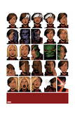 Uncanny X-Men 14 Cover: Deeds, Benjamin, Tempus, Frost, Emma, Stepford Cuckoos, Hulk, Beast Prints by Chris Bachalo