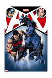A+X 12 Cover: Captain America, Jubilee, Wonder Man, Beast Posters by Mike Deodato