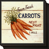 Farm Fresh Carrots Framed Print Mount by David Carter Brown