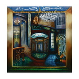 Savoy Hotel, Savoy Interior, Kaspar the Cat, 2010 Giclee Print by Lee Campbell