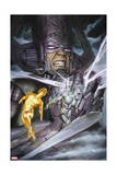 Hunger 2 Cover: Galactus, Silver Surfer, Jones, Rick Prints by Adi Granov