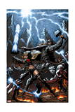 A+X 11 Cover: Thor, Magik Posters by Mark Texeira