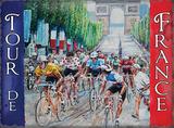 Tour de France - Flag Carteles metálicos