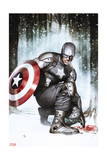 Captain America: Living Legend 2 Cover: Captain America Print by Adi Granov