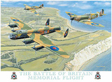 Battle of Britain memorial Tin Sign by Trevor Mitchell