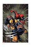 Savage Wolverine 6 Cover: Spider-Man, Wolverine Kunstdrucke von Joe Madureira