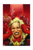 Avengers Assemble 16 Cover: Captain Marvel, Captain America, Black Widow, Hawkeye, Thor, Hulk Posters by Joe Quinones