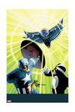 Uncanny Avengers 13 Cover: Captain America, Havok, Wasp, Banshee Prints by John Cassaday