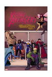 Young Avengers 14 Cover: Prodigy, Rockslide, Miss America, Broo, Gravity, Spider-Girl, Hulkling Print by Jamie McKelvie