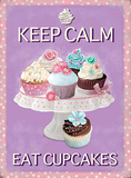 Keep Calm Eat Cupcakes Plakietka emaliowana