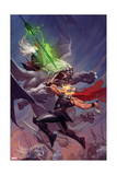 Thor: God of Thunder 13 Cover: Thor, Malekith Print by Ron Garney