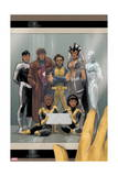 Astonishing X-Men 68 Cover: Wolverine, Gambit, Warbird, Iceman, Northstar, Reyes, Cecilia, Karma Prints by Phil Noto