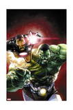 Indestructible Hulk 2 Cover: Hulk, Iron Man Print by Leinil Francis Yu