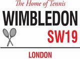 Wimbledon Plaque en métal
