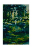 Folly 2002, Twickenham Statues and Fountain Giclee Print by Lee Campbell