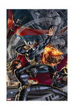Avengers 2 Cover: Black Widow, Falcon, Thor, Sunspot Poster by Dustin Weaver
