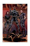 Secret Avengers 14 Group: Black Window, Nick Fury, Hawkeye Prints by Butch Guice