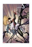 Ultimate Comics Spider-Man 21 Cover: Spider-Man, Stacy, Gwen Prints by Sara Pichelli