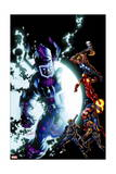 Cataclysm: the Ultimates Last Stand 1 Cover: Galactus, Thor, Iron Man, Captain America, Hawkeye Posters by Mark Bagley