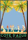 Cote d'Azur Framed Print Mount by Jean-Gabriel Domergue