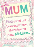 God Made Mothers Cartel de chapa
