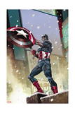 Captain America 11 Cover: Captain America Prints by Carlos Pacheco