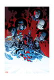 All-New X-Men 11 Cover: Magik, Cyclops, Frost, Emma, Angel, Magneto, Grey, Jean, Iceman, Beast Poster by Stuart Immonen