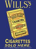Wills's Cigarettes Tin Sign