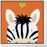 Peek-a-Boo XII, Zebra Framed Print Mount by Yuko Lau