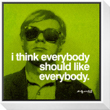 Everybody Framed Print Mount by Andy Warhol