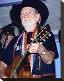 Willie Nelson Stretched Canvas Print