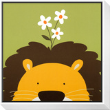 Peek-a-Boo IX, Lion Framed Print Mount by Yuko Lau